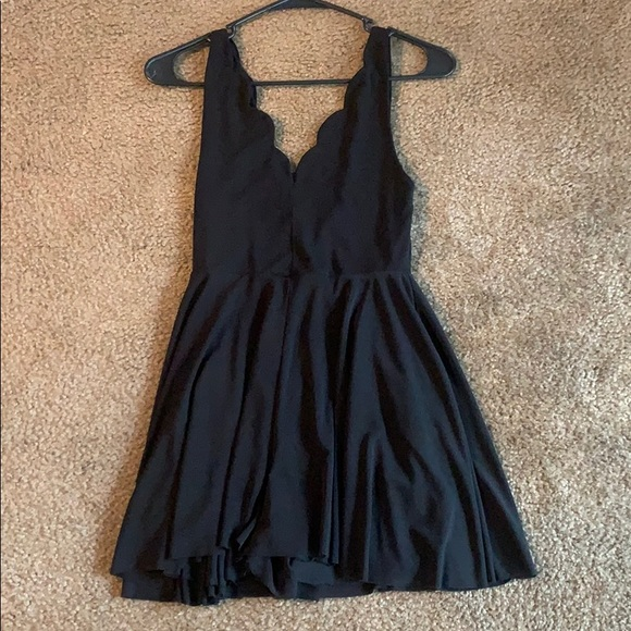 Black Romper with low back!